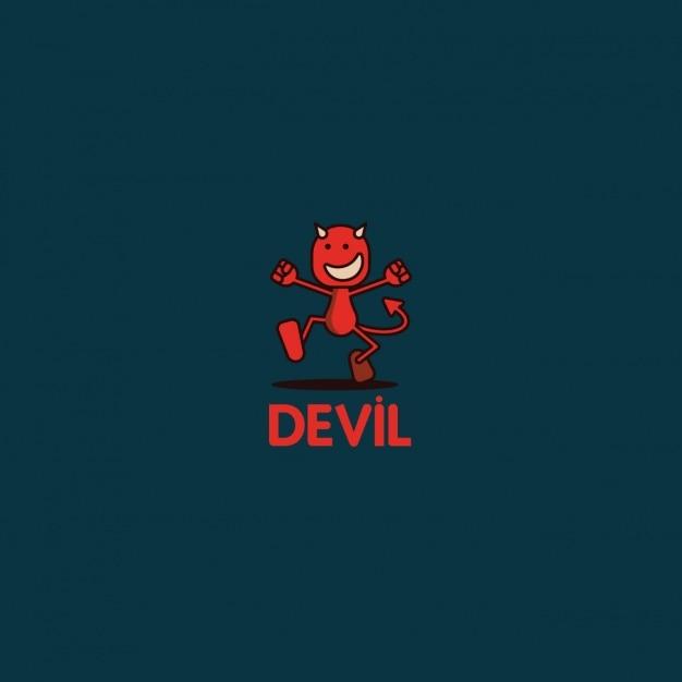 Funny devil logo Free Vector