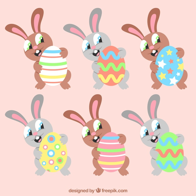 Funny Easter cartoon bunny