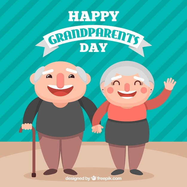 Funny flat grandparents day design