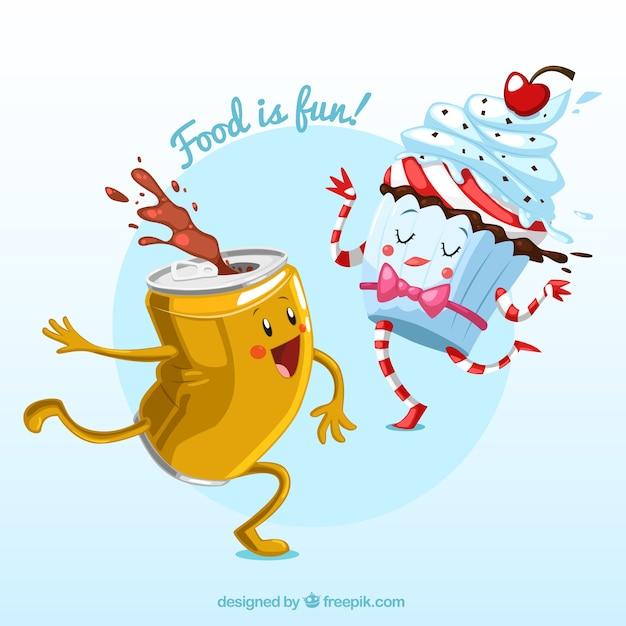Funny food illustration Vector | Free Download