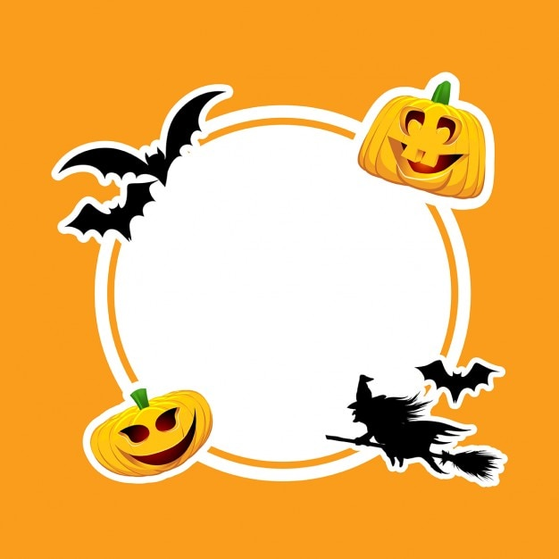 Funny frame for halloween Vector | Free Download