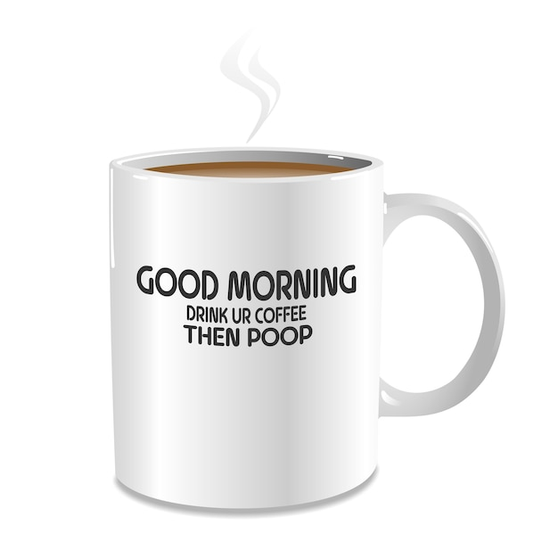 Funny Good Morning Coffee Vector Premium Download