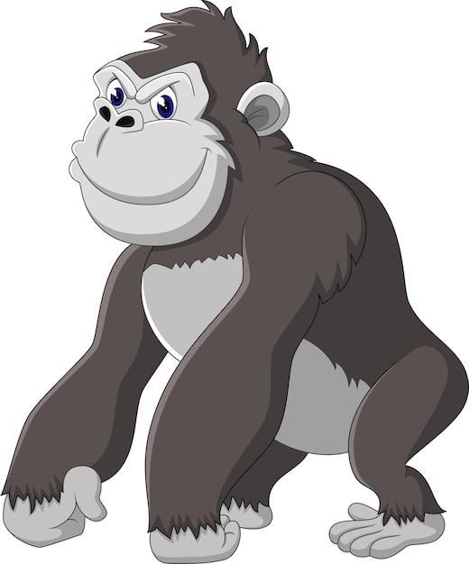 Funny gorilla cartoon vector premium download - Dessin de babouin ...