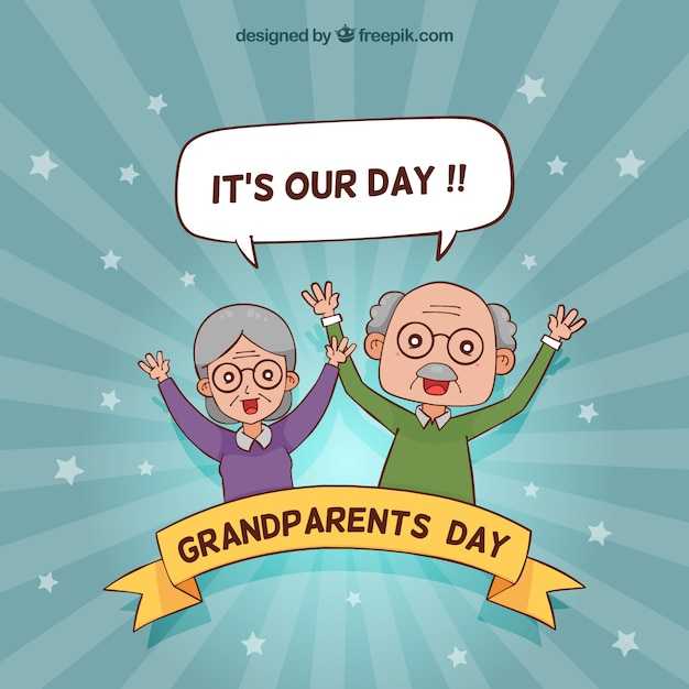 Funny grandparents day background