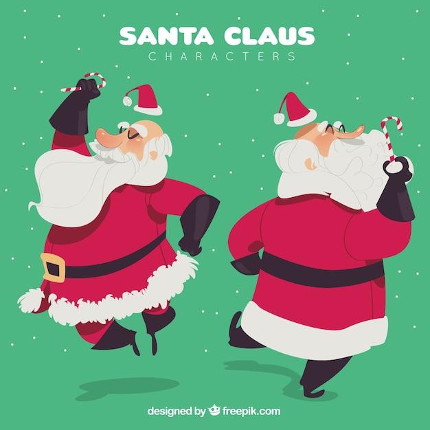 Funny hand drawn santa claus character