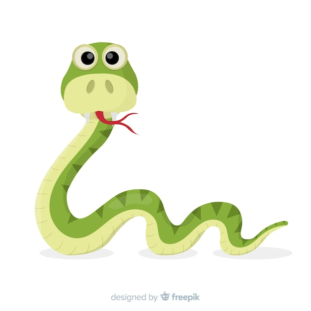 Funny hand drawn snake background Free Vector