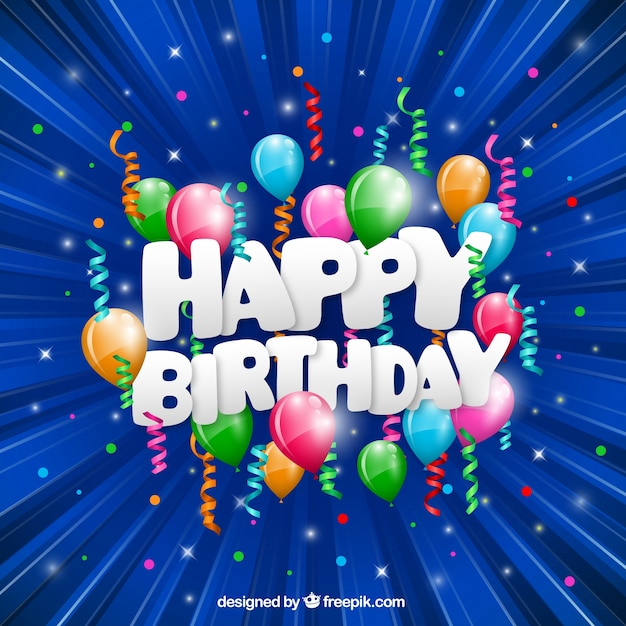 Funny happy birthday card Vector | Free Download