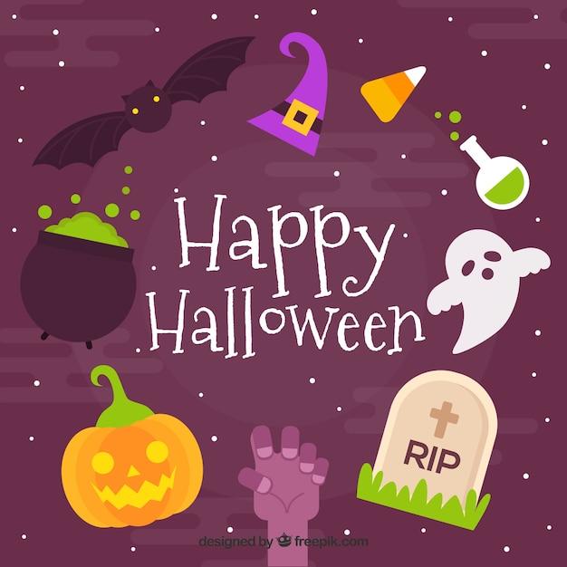 Funny happy halloween background vector free download - Funny happy halloween wallpaper ...