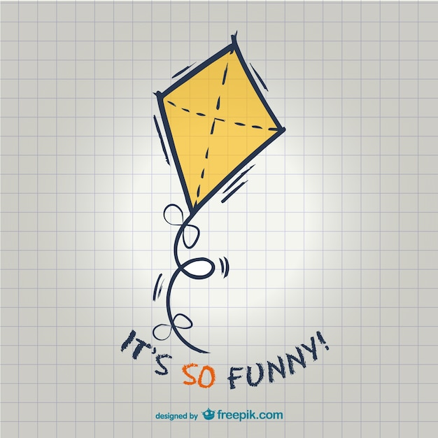 Funny kite illustration Premium Vector