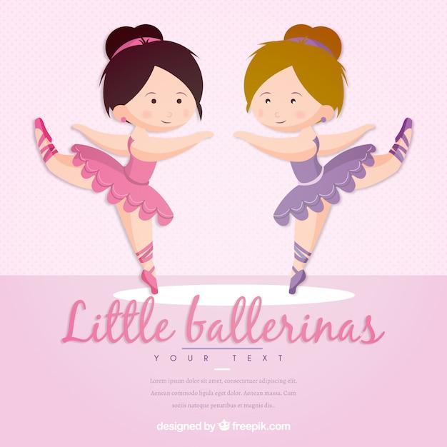 Funny little ballerinas Free Vector