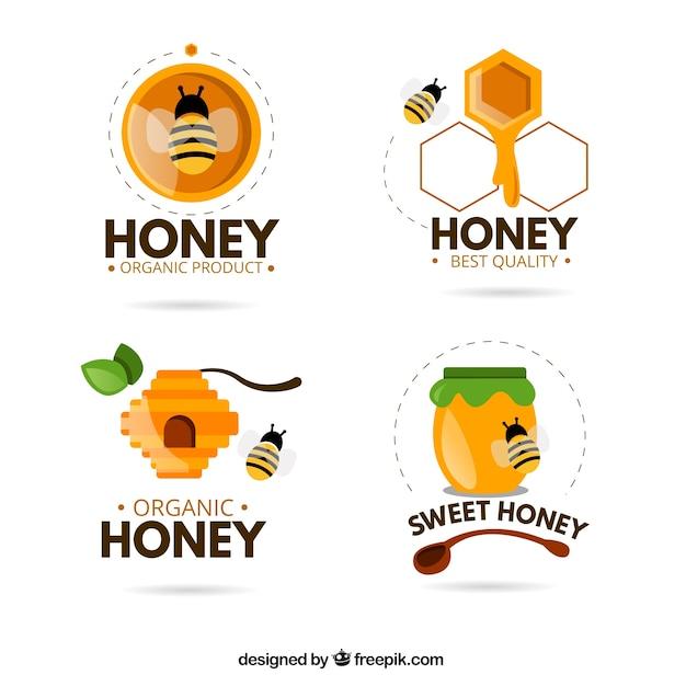 آرم های خنده دار برای عسل ارگانیک
