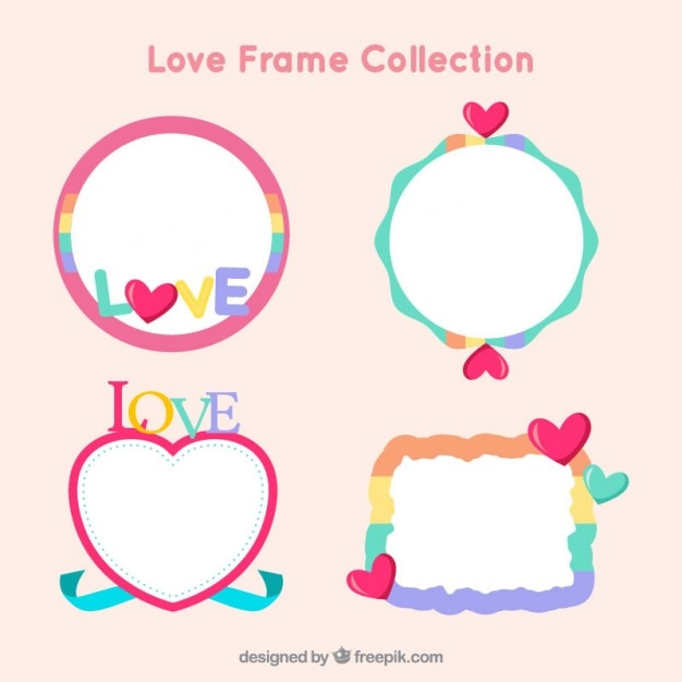 Funny love frames Vector | Free Download