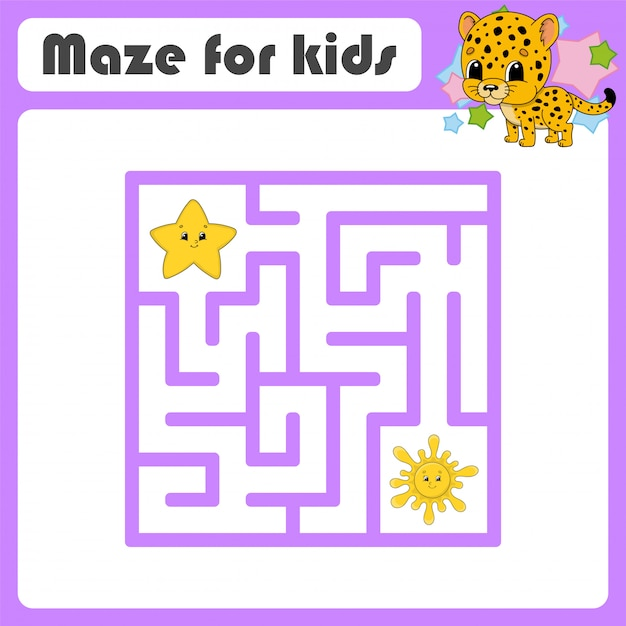 Забавный лабиринт, игра для детей, Premium векторы