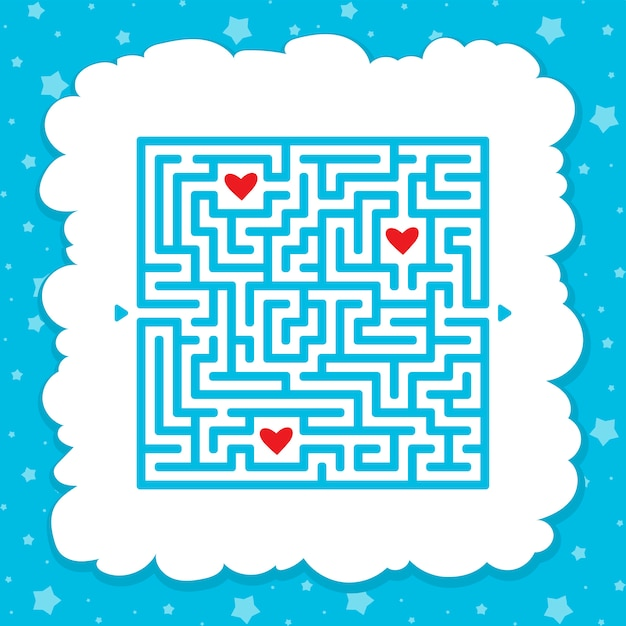 Premium Vector Funny Maze Game For Kids Puzzle For Children Labyrinth Conundrum