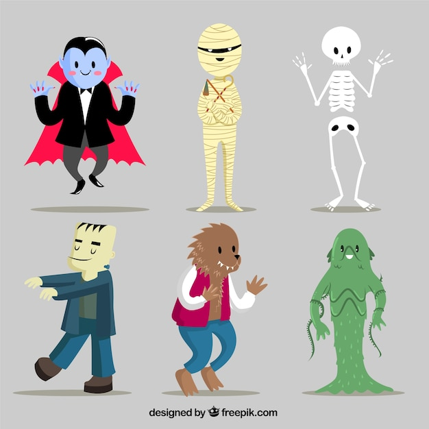 Funny monsters Premium Vector
