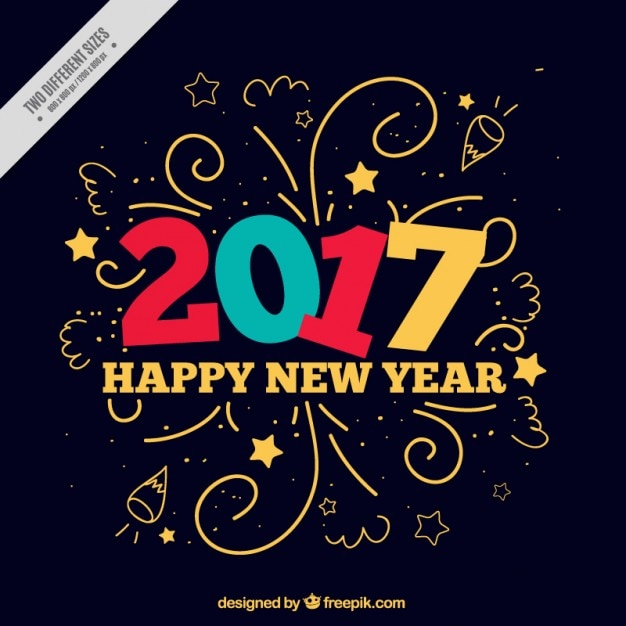 Funny new year background Vector | Free Download