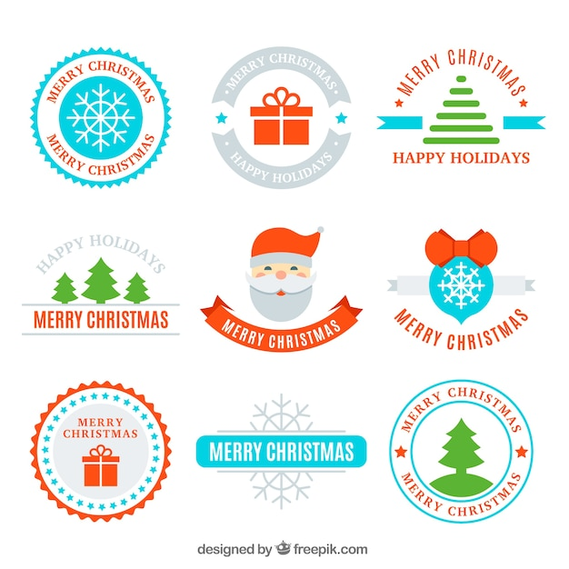 Funny pack pack of flat christmas labels