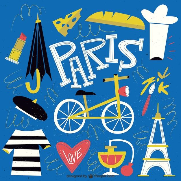 Paris Illustration: Funny Paris Illustration Vector