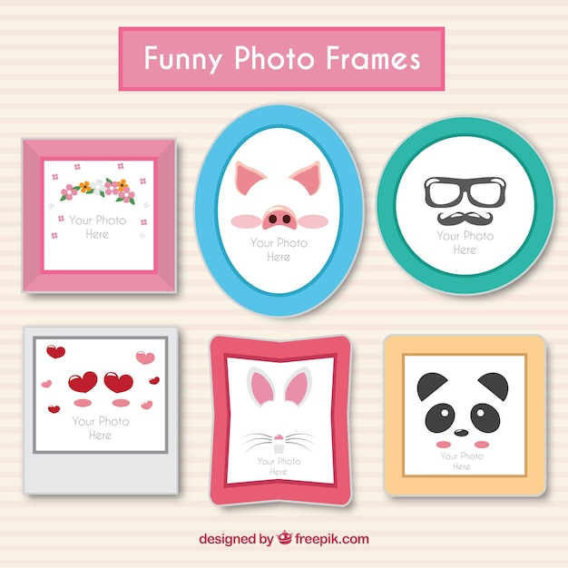 Funny photo frames Vector | Free Download