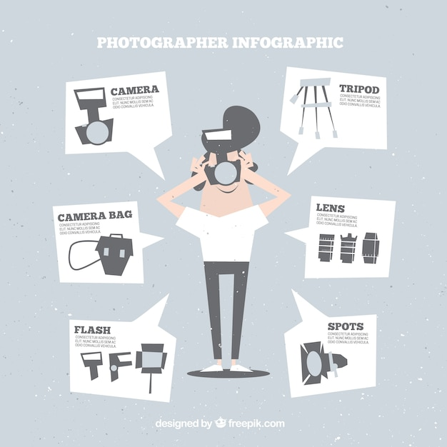 Funny photographer infographic Vector – Photographer Birthday Card