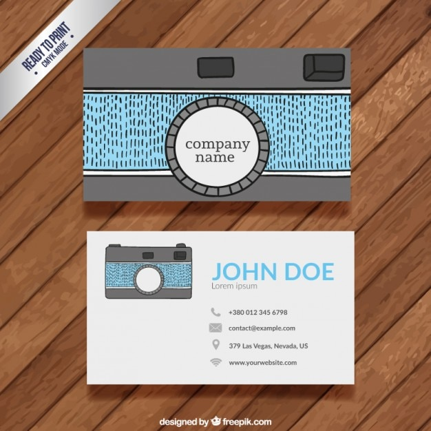 Funny Photography Business Card Premium Vector