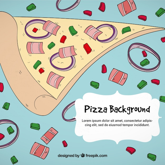 Funny pizza Free Vector