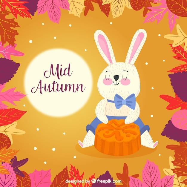 Funny rabbit, mid autumn festival