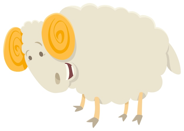 funny ram animal character vector | premium download