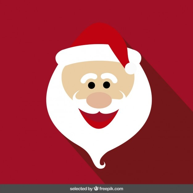 Free Vector | Funny santa claus cartoon face