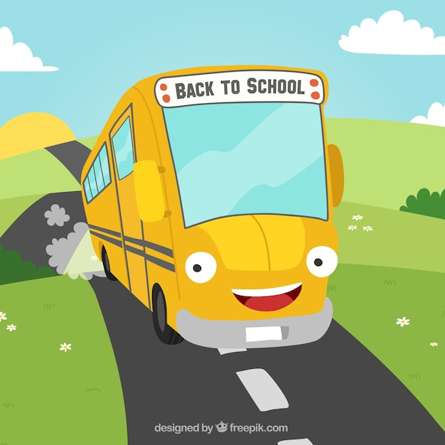 Funny school bus background