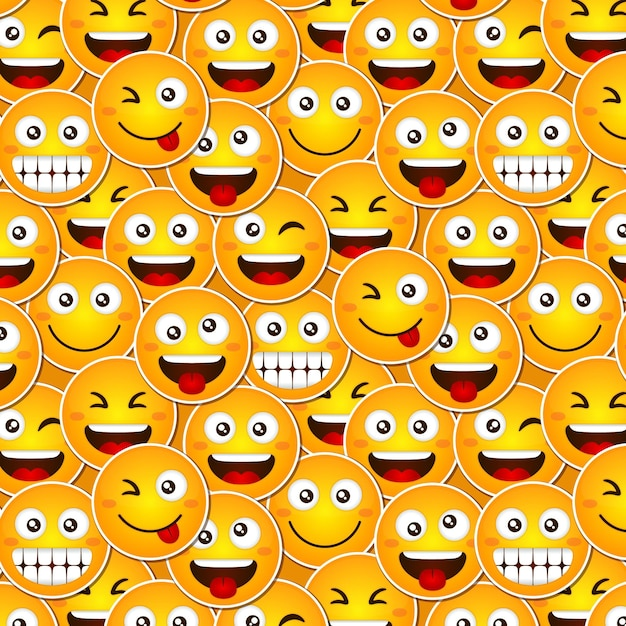 Modello di emoticon sorriso divertente Vettore gratuito