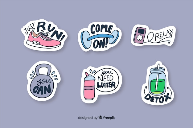 Funny sticker to decorate photos Free Vector