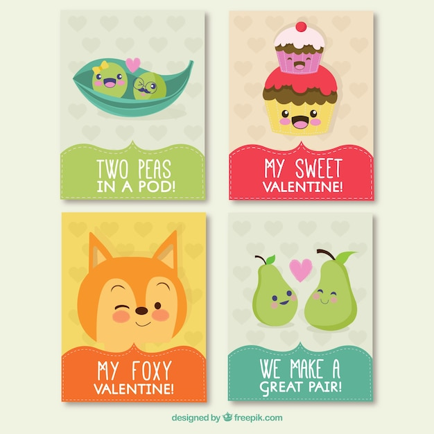 funny valentine day cards vector free download