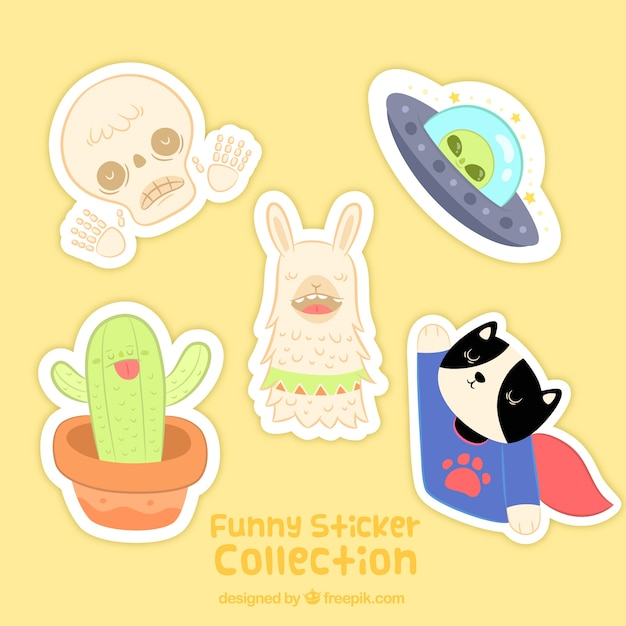 Funny variety of original stickers
