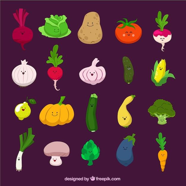 Funny vegetables Vector | Free Download