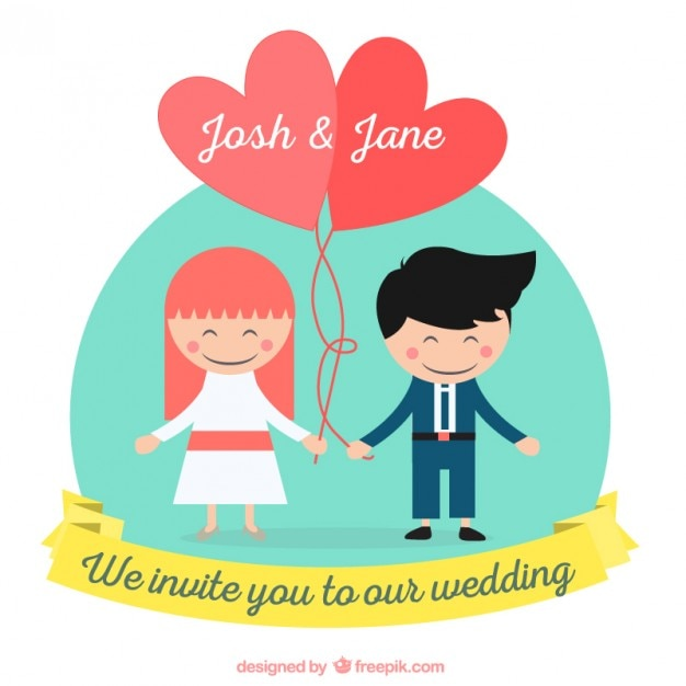 Funny wedding invitation Vector | Free Download