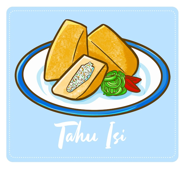 Funny and yummy cute indonesian tofu or