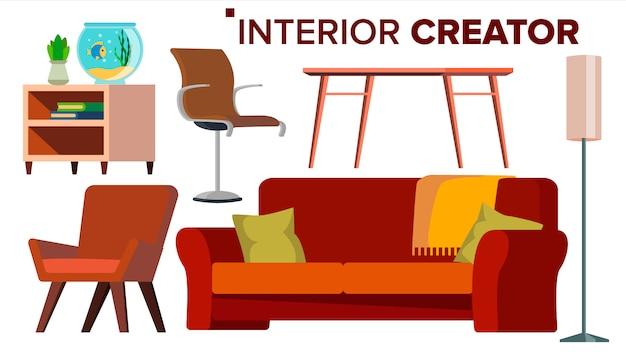 Furniture creator vector. Premium Vector