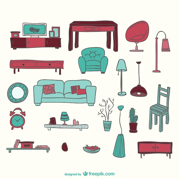 Furniture Graphics Set Vector Free Download
