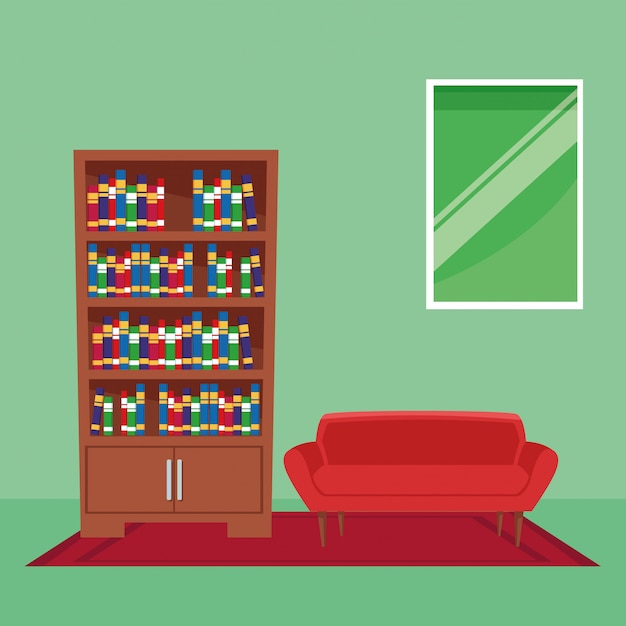 Furniture house interior icon cartoon Free Vector