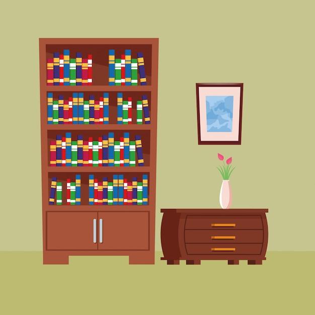 Мебель для дома интерьерная икона мультфильм Бесплатные векторы