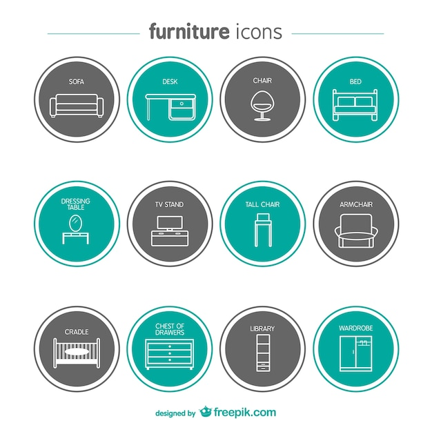 Modern Furniture Icon furniture vectors, photos and psd files | free download