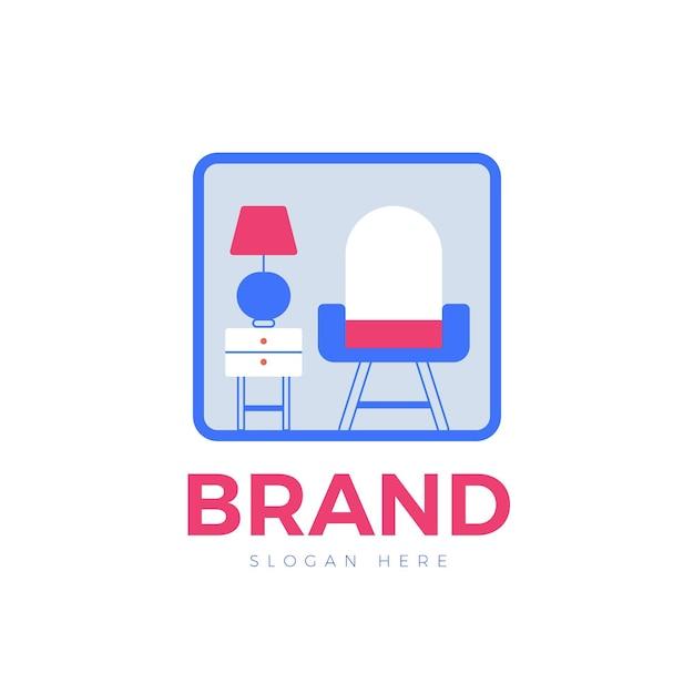 家具ロゴコンセプトデザイン 無料ベクター
