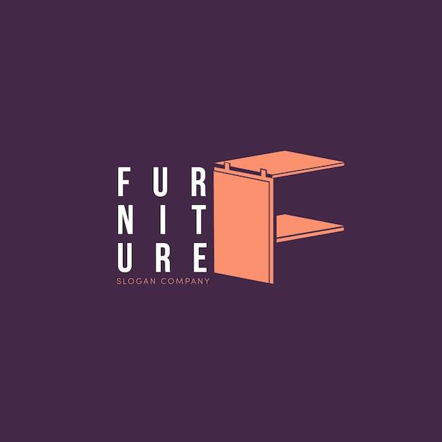 Концепция логотипа мебели Бесплатные векторы