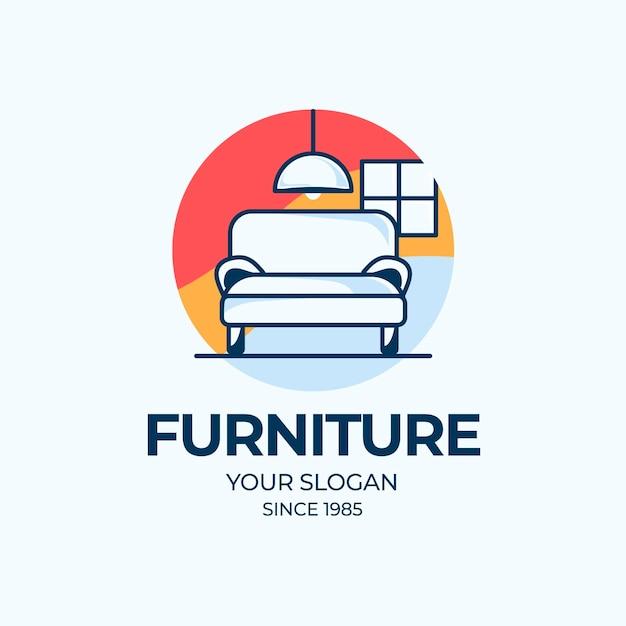Концепция дизайна логотипа мебели Бесплатные векторы