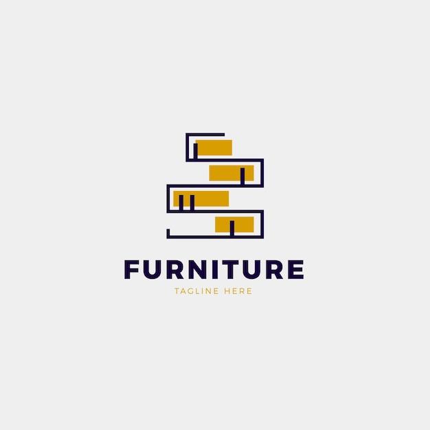 Концепция дизайна логотипа мебели Premium векторы