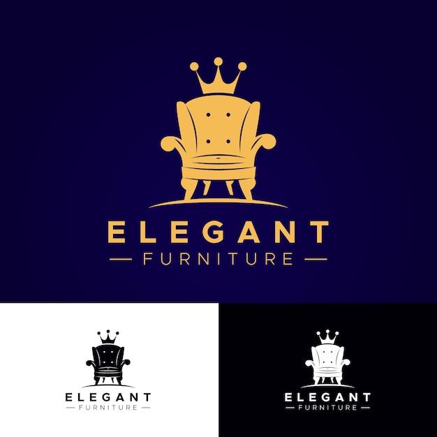 Мебель логотип элегантный дизайн Бесплатные векторы