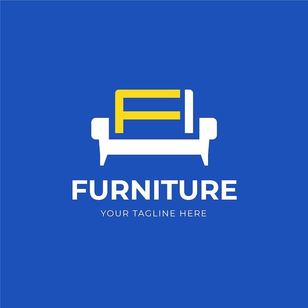 Шаблон логотипа мебели Premium векторы