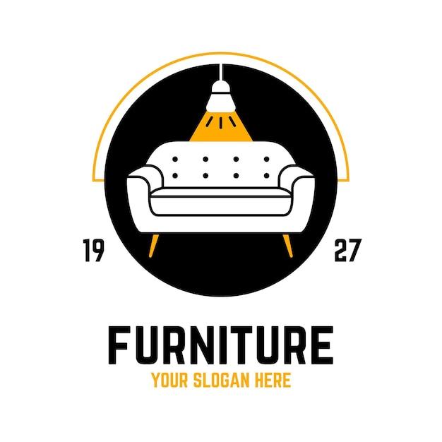 Шаблон логотипа мебели Бесплатные векторы
