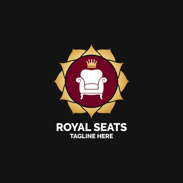Мебель логотип с креслом Бесплатные векторы
